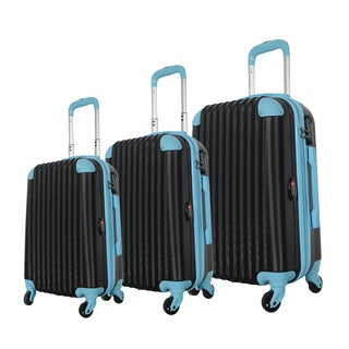 Brio Luggage 3-piece Hardside Spinner Luggage Set