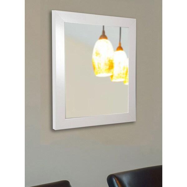 American Made Rayne Glossy White Vanity Wall Mirror