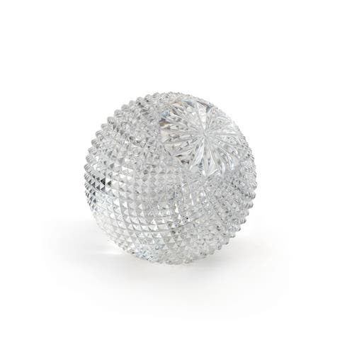 Etched Cross Cut Glass Ball