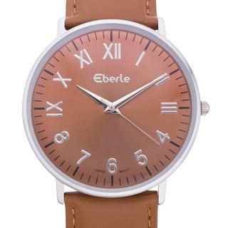 Eberle Men's Eiffel Brown Leather Watch