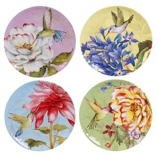 "Certified International Floral Bouquet 11"" Dinner Plates (Set of 4) Assorted Designs"