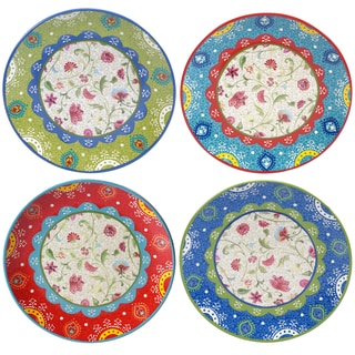 "Certified International Anabelle 11"" Dinner Plates (Set of 4) Assorted Designs"