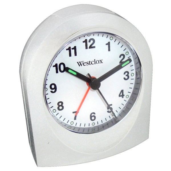Westclox White Bedside or Travel Analog Alarm Clock