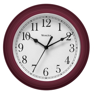 "Westclox 9.5"" Red Decorative Wall Clock"