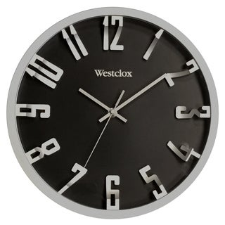 "Westclox 12"" Metalic 3D Numbers Wall Clock"