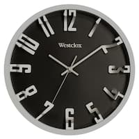 "Westclox 12"" Metalic 3D Numbers Wall Clock"