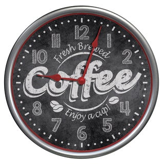 "Westclox 12"" Fresh Brew Coffee Wall Clock"