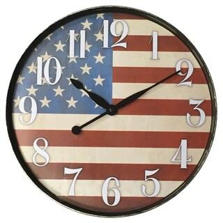 "Westclox 12"" American Flag Wall Clock"