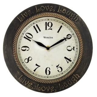 "Westclox 11"" Round Live Love Laugh Wall Clock"