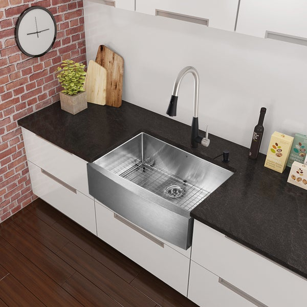 ... Overstock Farmhouse Sink By Vigo All In One 33 Inch Stainless Steel  Farmhouse Kitchen ...