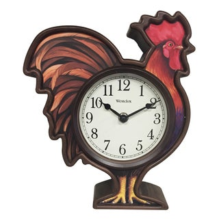 "Westclox 10"" 3D Rooster Wall Clock"