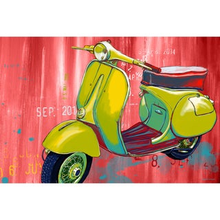Maxwell Dickson 'Vintage Scooter' Modern Canvas Wall Art