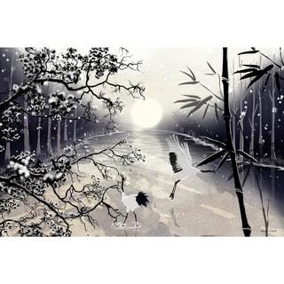 Maxwell Dickson 'Two Cranes' Modern Canvas Wall Art