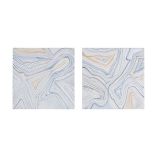Dimond Home Pastels Agate Hand-painted Wall Art (Set of 2)