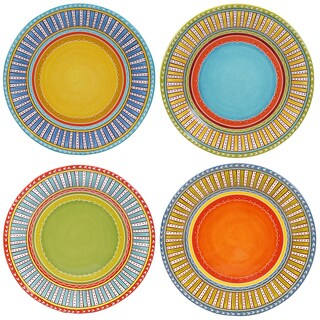 "Certified International Valencia 11.25"" Dinner Plates (Set of 4) Assorted Designs"