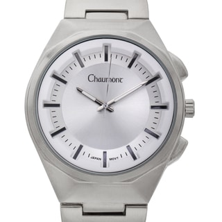 Chaumont Men's Farinelli Stainless Steel Ion-plated Link and Textured Dial Ring Watch
