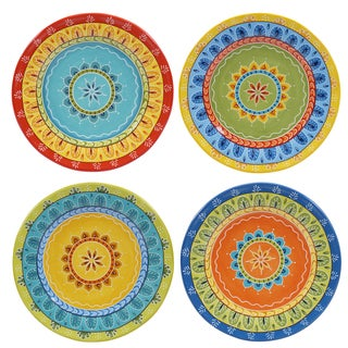 "Certified International Valencia 8.75"" Salad/Dessert Plates (Set of 4) Assorted Designs"