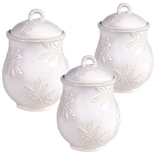 Certified International Binaca Ivory 3 pc Canister Set