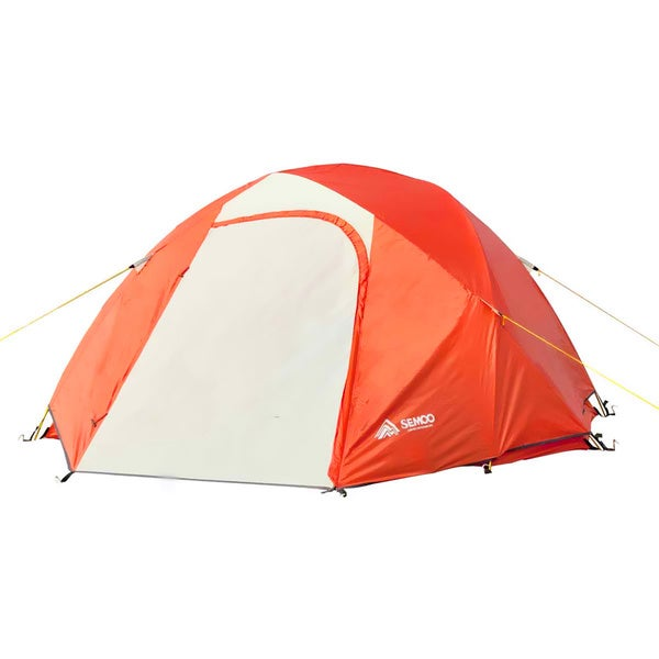 Semoo Waterproof,3-Person,2 Doors,4 Season Aluminum Pole Lightweight Family Tent for Camping/Hiking with Compression Bag