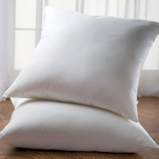 Cheer Collection White 26 x 26 Euro Square Pillow (Set of 2)