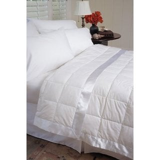 233 Thread Count White Down Blanket with Satin Trim
