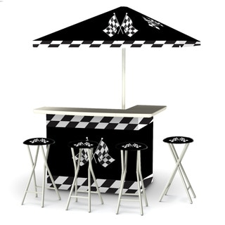 Best of Times Racing Checkered Flags Portable Deluxe Bar