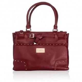Erin Burgundy Leather Goldtone Hardware Handbag