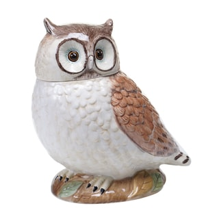 Certified International Rustic Nature 3-D Owl Cookie Jar 10""