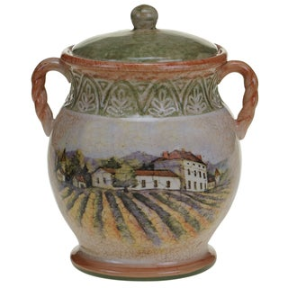Certified International Sanctuary Wine Biscuit Jar 9.75""