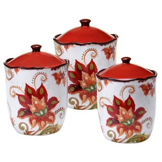 Certified International Spice Flowers 3 pc Canister Set