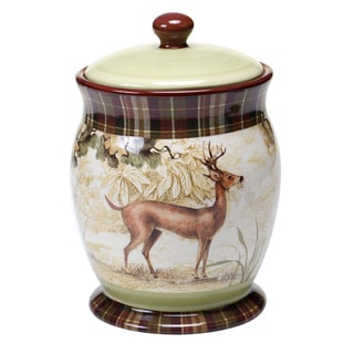 Certified International Rustic Nature Biscuit Jar 10""