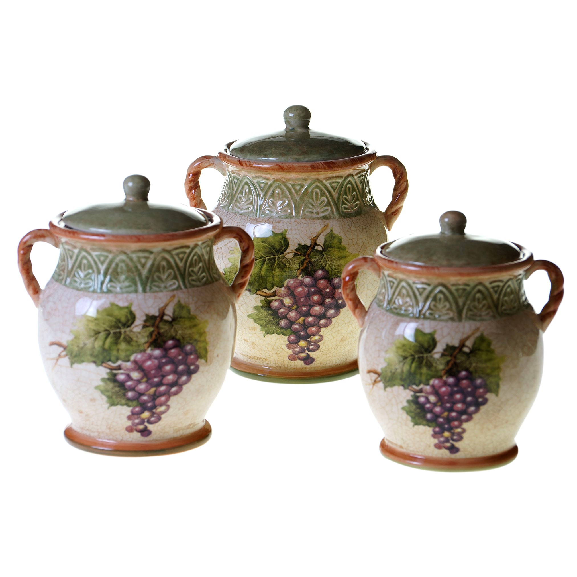 Certified Intl Sanctuary Wine 3 pc Canister Set (Canister...