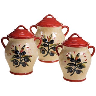 Certified International Umbria  3 pc Canister Set