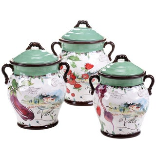 Certified International Villa 3 pc Canister Set