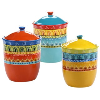 Certified International Valencia 3 pc Canister Set