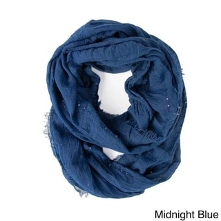 Saachi Women's Frayed Sequin infinity Loop Scarf (China)