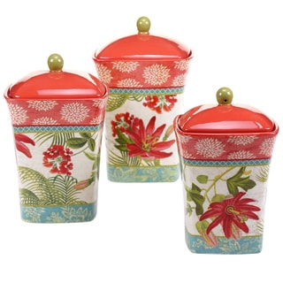 Certified International Golden Rooster 4-piece Canister