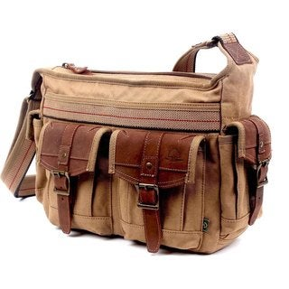 Link to TSD Brand Turtle Ridge Canvas Mail Bag Similar Items in Shop By Style