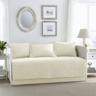 Laura Ashley Felicity Ivory Cotton 5 Piece Daybed Cover Set
