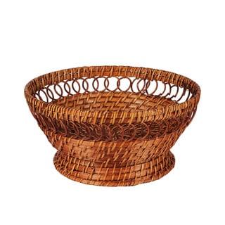 Caribbean Joe Rattan Pedestal Bowl