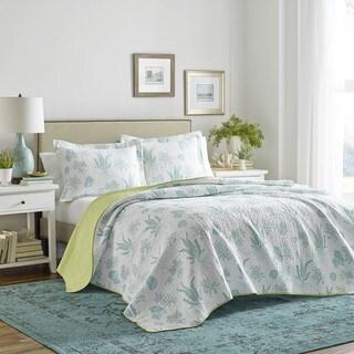 Laura Ashley Cape Coral Cotton Quilt Set