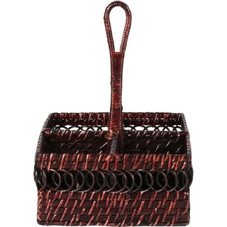 Caribbean Joe Rattan Square Caddy