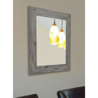 American Made Rayne Grey Barnwood Vanity Wall Mirror