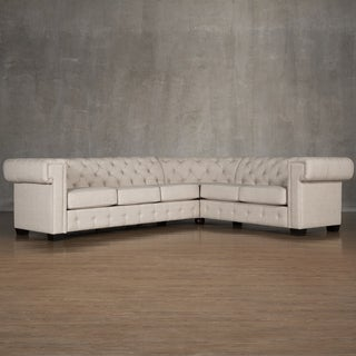 SIGNAL HILLS Knightsbridge Tufted Squared Arm Chesterfield L-Shaped Sectional