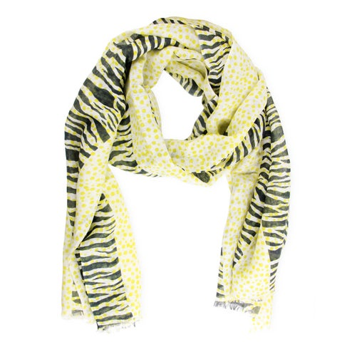 Handmade Veroma Women's Zebra Dot Scarf (India)