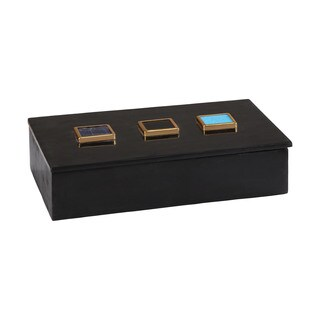 Dimond Home Antilles Box in Black Marble and Mixed Agate