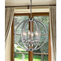 Mallory 6-light Clear 18-inch Chrome Chandelier