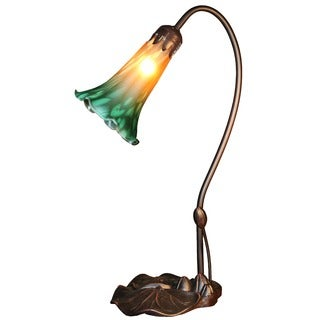Rita 1-light Glass 17-inch Bronze Tiffany-style Table Lamp