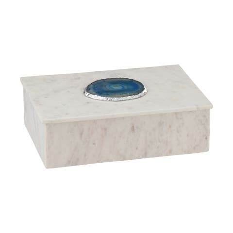 Dimond Home Blue Agate Decorative Box