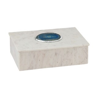 Dimond Home Blue Agate Decorative Box